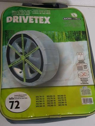 Cadenas textil fundas DRIVETEX hielo / nieve