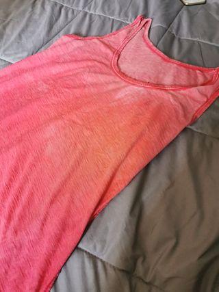 camisa de tirantes rosa estilo desteñido