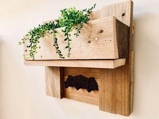 colgador perchero llavero madera palet loft