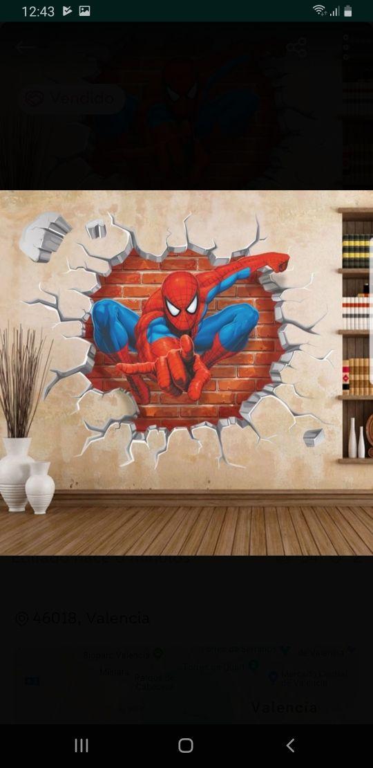 vinilo spiderman decorativo 5ox50, nuevo