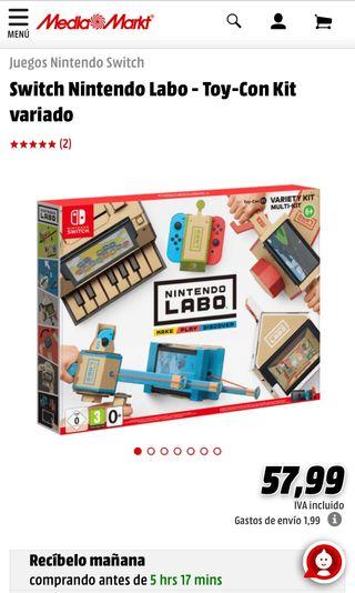Nintendo Labo Sin abrir