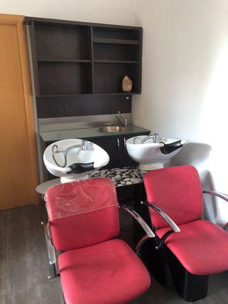 Mobiliario peluquería lavacabezas