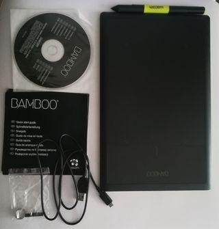 Tableta gráfica Wacom Bamboo+funda