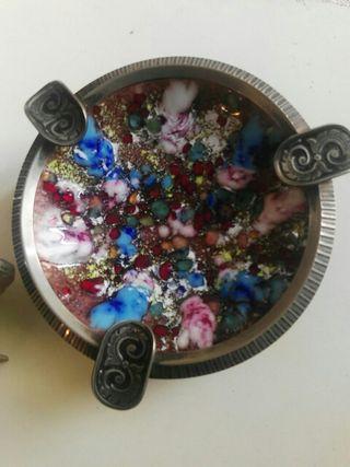reloj y cenicero vintage