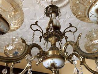 Lámpara antigua bronce