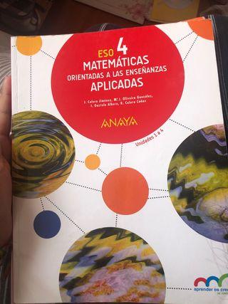 Libro Matemáticas Aplicadas 4 ESO