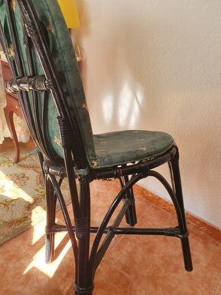 sillas de mimbre