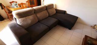 sofa tres plazas con chaise lounge