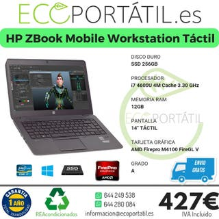 HP ZBook 14 Mobile Workstation Táctil i7