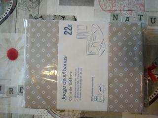 juego sabanas cama d 150 cm nuevo, por 15 euros