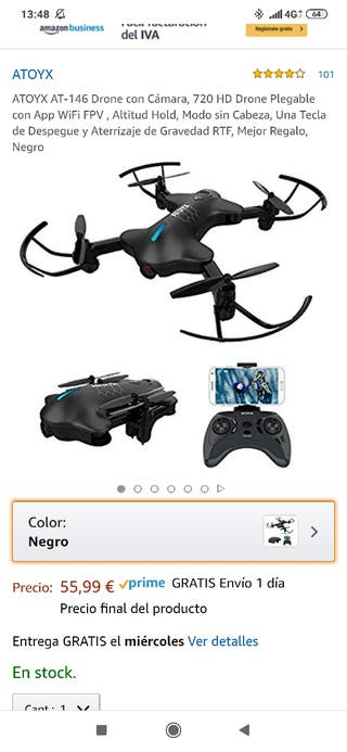 Dron con camra nuevo