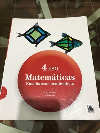Libro Matemáticas 4ºESO