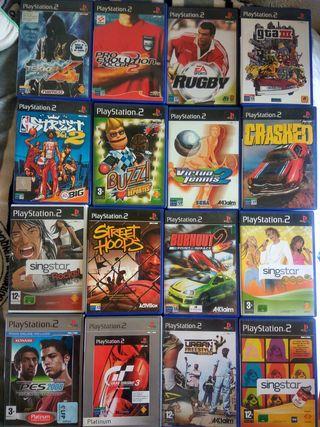 cajas de juegos de PlayStation 2