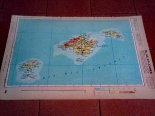 mapa Canarias-Colonias africanas. Baleares