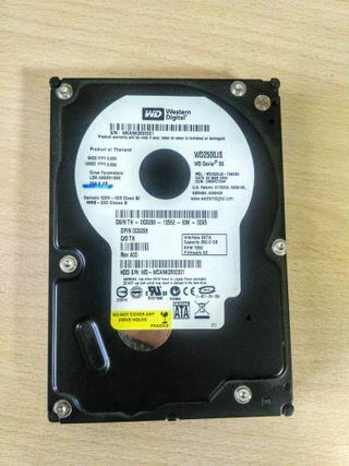 Disco duro Western Digital HDD 250 GB