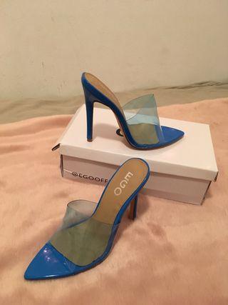 Zapatos azul talla 35