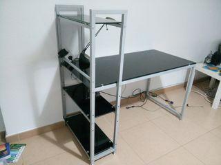 escritorio de cristal negro nuevo