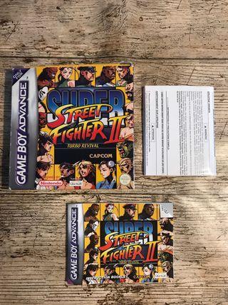 Game Boy Advance - Super Street Fighter II (caja)