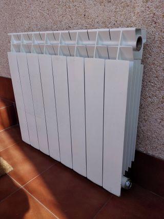 Radiadores aluminio para calefacción de 8 cuerpos