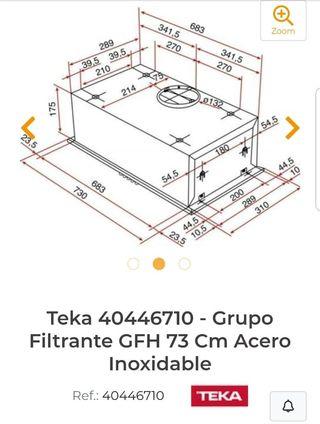 Extractor de cocina marca Teka