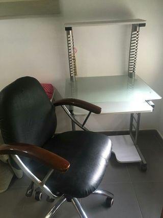 Mesa escritorio y silla estudio