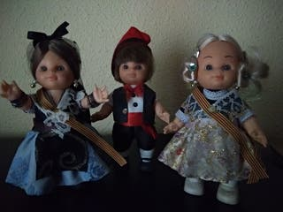 Lote 3 muñecos Trajes típicos de España