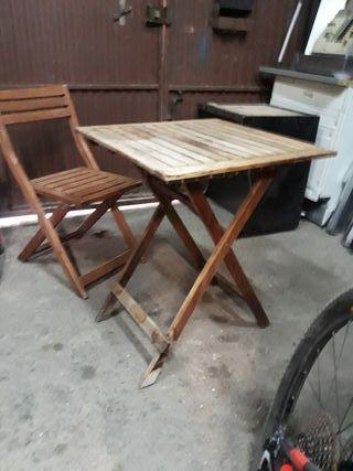 conjunto mesa y silla