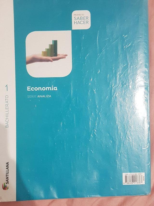 libro de economía 1° de Bachillerato
