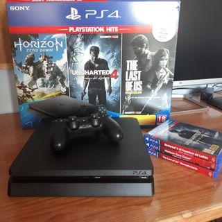 Playstation 4 1TB + 3 juegos + PS Plus 3 meses