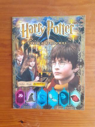 Álbum cromos Harry Potter y la piedra filosofal.