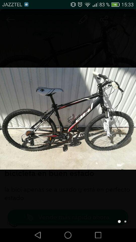 bici con poco uso y buen estado
