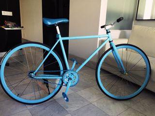 Bicicleta Fixie Azul