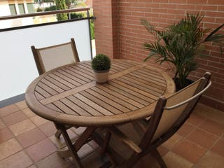 Mesa y sillas de Teca terraza-jardin
