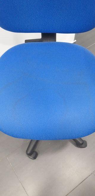 silla escritorio azul