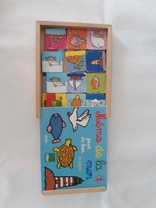 Pack de puzzles, bingo y muñeca