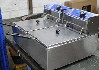 Freidora 6+6-L nueva bar o restaurante industrial