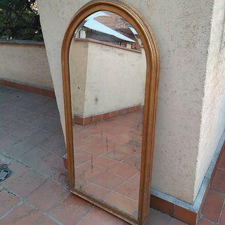 Gran espejo cuerpo entero francés antiguo 100 años