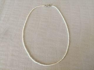 Collar plata y perlas