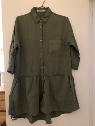 Vestido verde militar ZARA