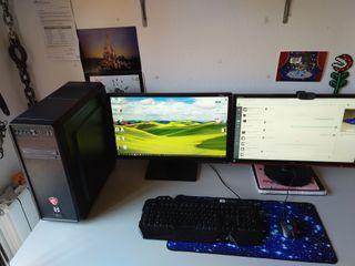 PC GAMING + 2 MONITORES + TECLADO + WEBCAM