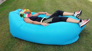 Sillon inflable Windbag XL Azul