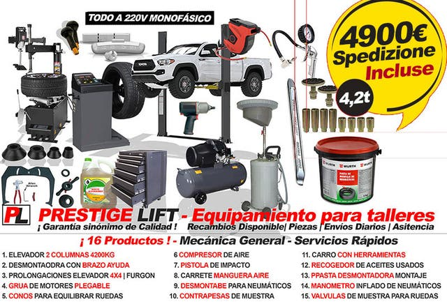 DESMONTADORA RUEDAS CAMION TRACTOR AGRICOLAS 220V