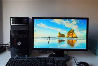 """Ordenador + monitor 22"""" + altavoces 5.1"""
