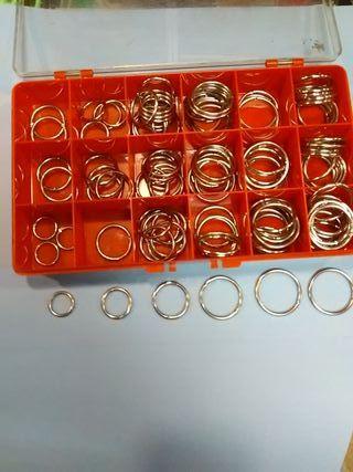 25 anillas metálicas con apertura