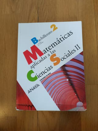 Libro Matemáticas 2do bachillerato.