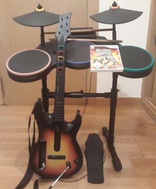 WII Guitarra, Bateria y Juego