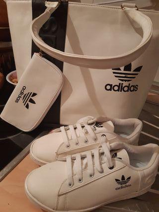 zapatillas con bolso y con monedero