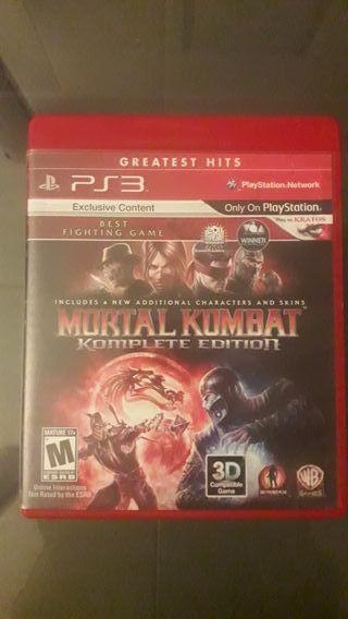 mortal kombat complete edition ps3, juegazo!!!