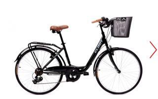 """Bicicleta 28"""" negra de paseo unisex"""