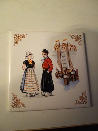 azulejo pareja campesinos